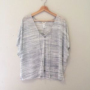 Petrol grey dolman top boho